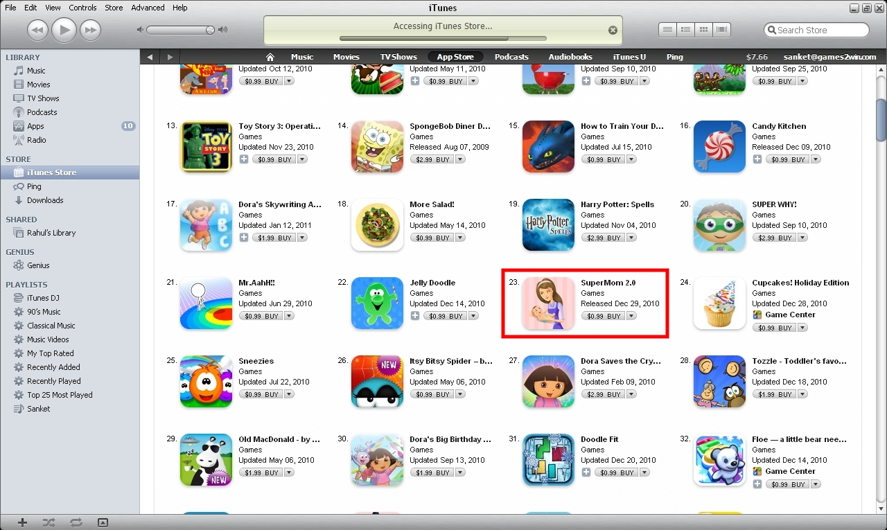 SuperMom 2.0 on iStore