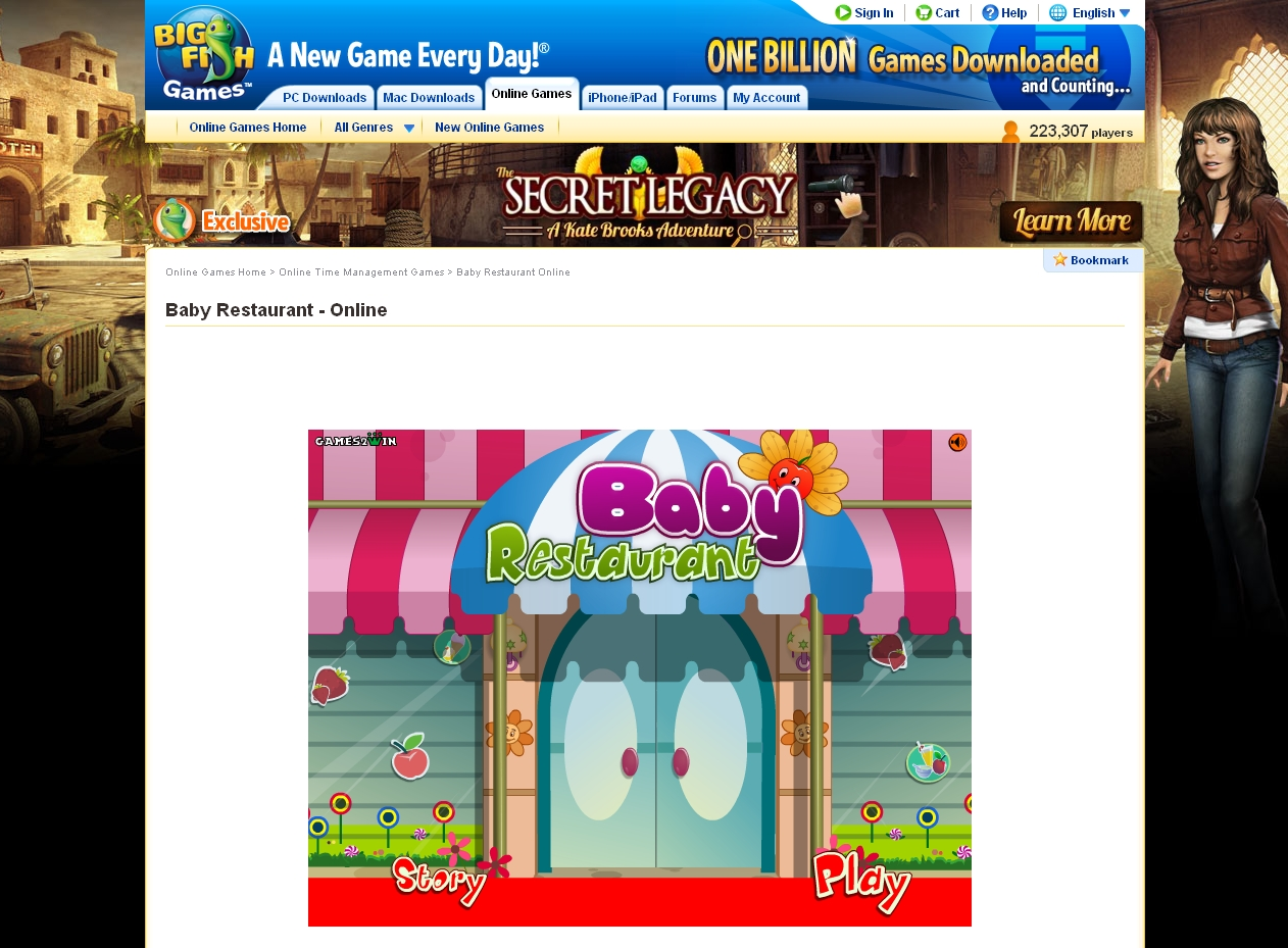 Baby Restaurant on BigfishGames.com