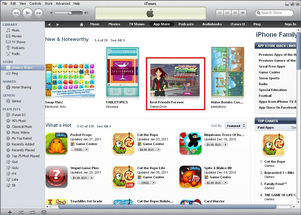 BFF - Noteworthy app in Family section