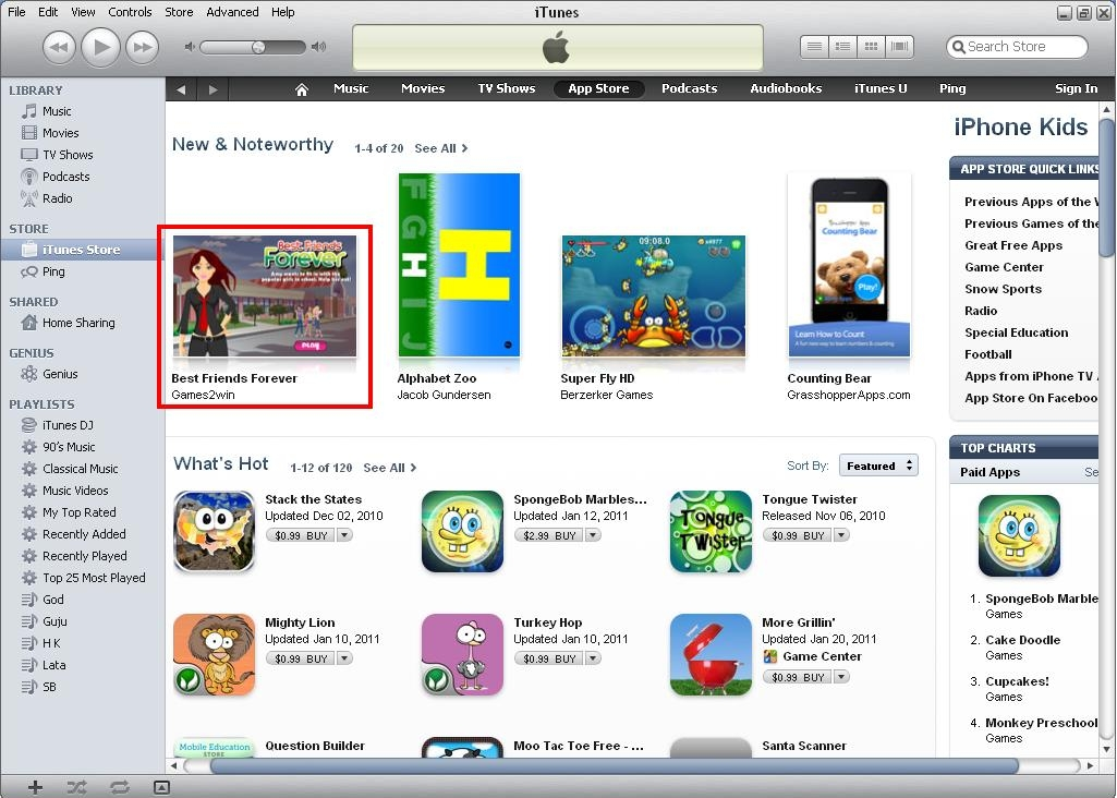 BFF - Noteworthy app in Kids section