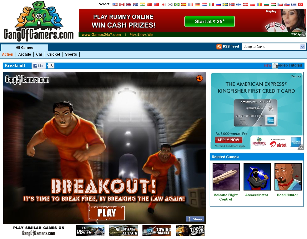 Play Breakout! on Gangofgamers
