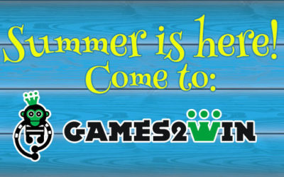 Summer is here! Come to Games2win for your Vacation!