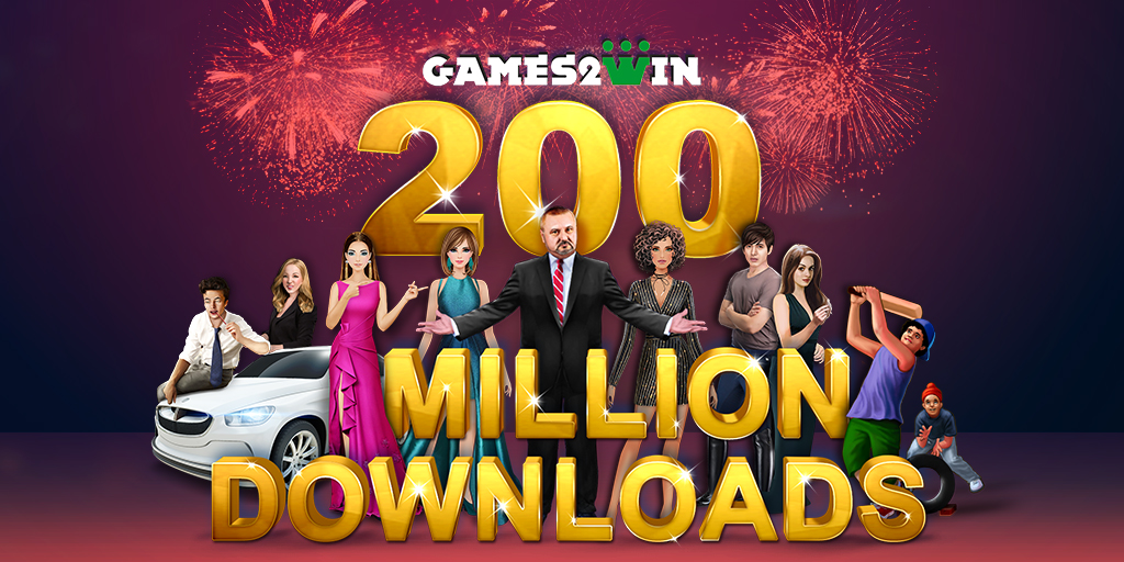 Games2win scores 200 million downloads!